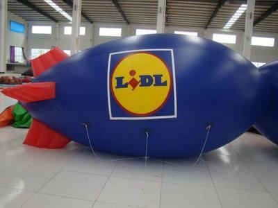 Helium-Zeppelin für Lidl