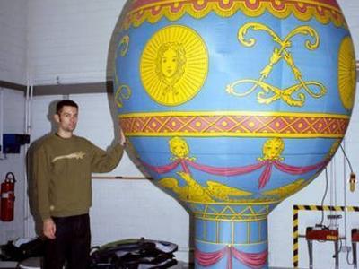 Kaltluftballon Montgolfière