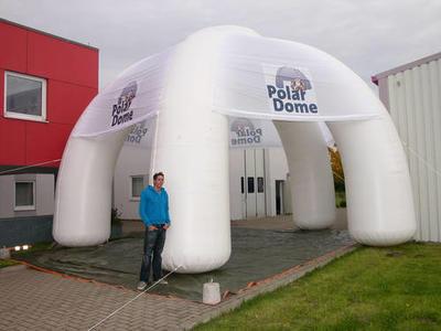 Aufblasbarer Pavillon für Polar Dome