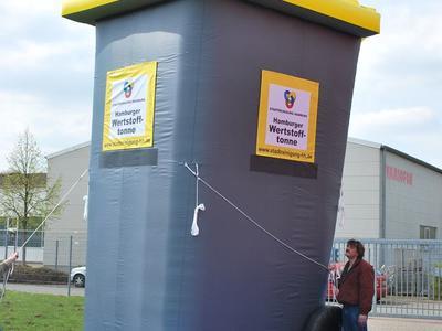 Aufblasbares 3D-Objekt – Mülltonne