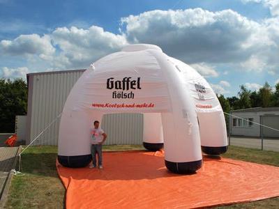Aufblasbarer Pavillon für Gaffel Kölsch