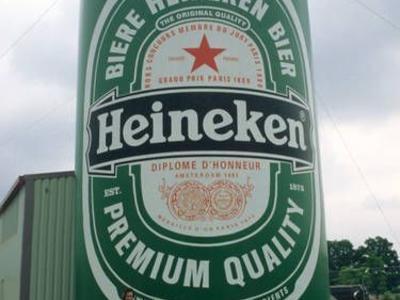 Aufblasbare Dose für Heineken