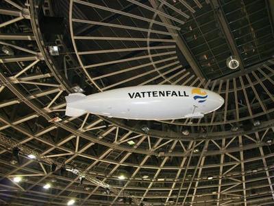 Helium-Zeppelin für Vattenfall