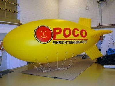Helium-Zeppelin für Poco