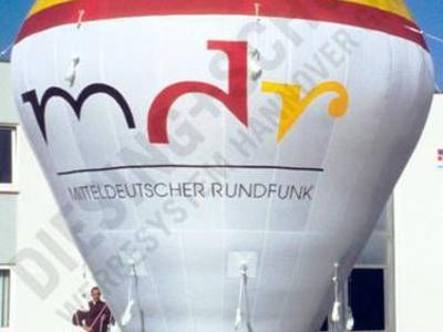 Kaltluftballon für den MDR