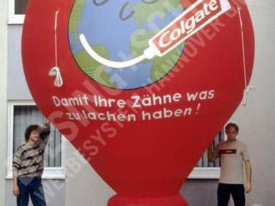 Kaltluftballon für Colgate