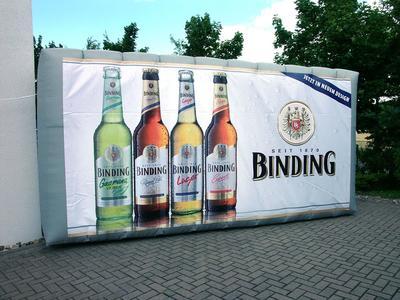 Aufblasbare Werbewand